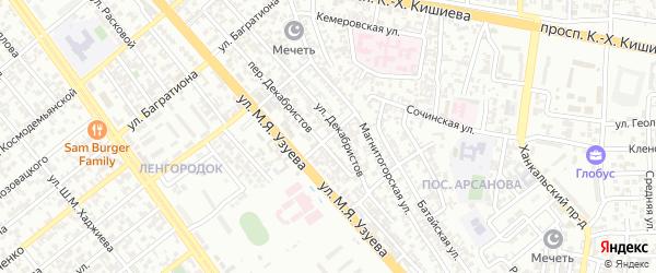 Гудермесский 4-й переулок на карте Грозного с номерами домов