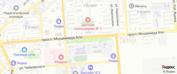 Проспект Кирова на карте Грозного с номерами домов
