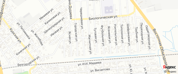 Магнитная улица на карте Грозного с номерами домов