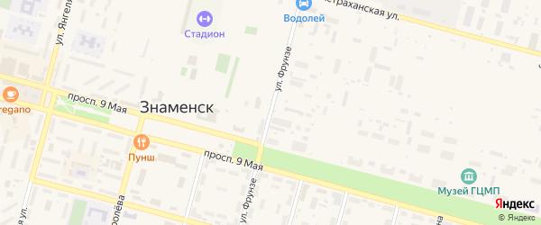 Улица Фрунзе на карте села Капустина Яра с номерами домов