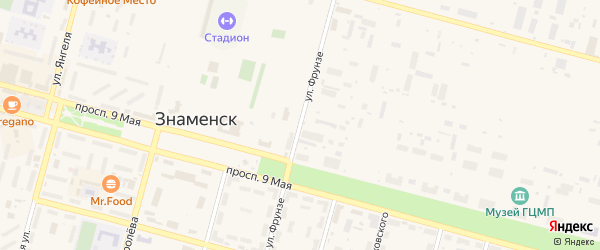 Улица Фрунзе на карте Знаменска с номерами домов