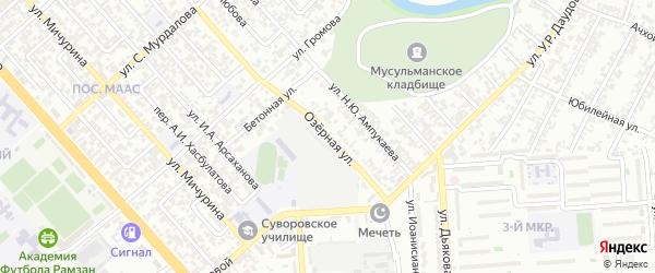 Озерная улица на карте Грозного с номерами домов