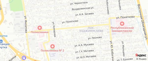 Улица Х.У.Орзамиева на карте Грозного с номерами домов