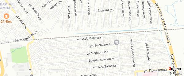 Улица Кольбуса на карте Грозного с номерами домов