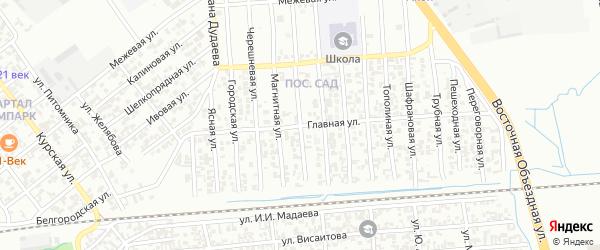 Тутовая улица на карте Грозного с номерами домов