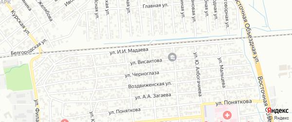 Улица М.Висаитова на карте Грозного с номерами домов