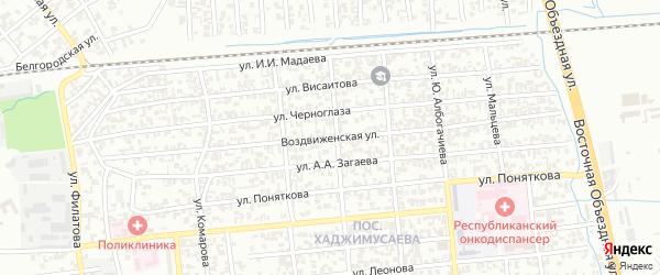 Воздвиженская улица на карте Грозного с номерами домов