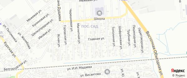 Футбольная улица на карте Грозного с номерами домов