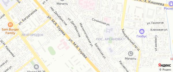 Магнитогорская улица на карте Грозного с номерами домов
