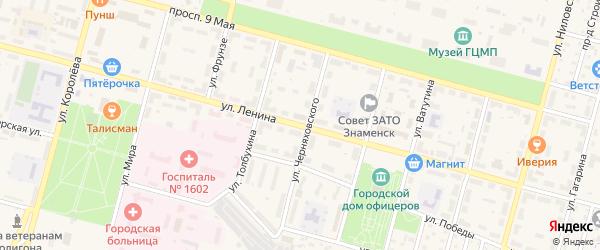 Улица Ленина на карте Знаменска с номерами домов