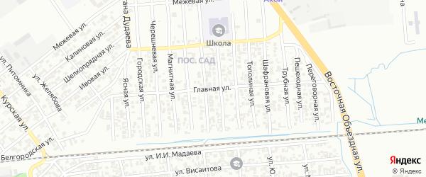 Главная улица на карте Грозного с номерами домов