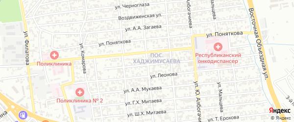 Улица Х.А.Исаева на карте Грозного с номерами домов