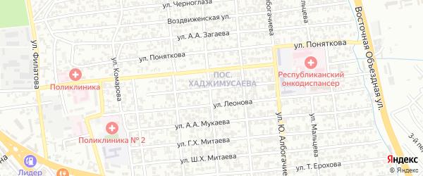Улица им Воликова на карте Грозного с номерами домов