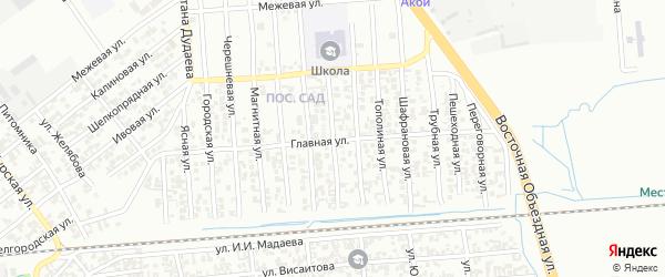 Ясеневая улица на карте Грозного с номерами домов