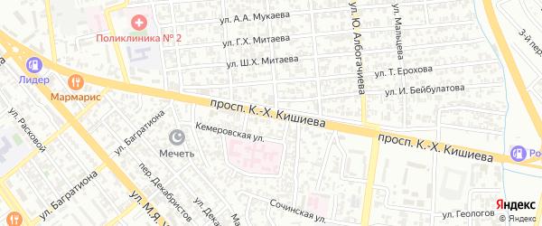 Ханкальская улица на карте Грозного с номерами домов