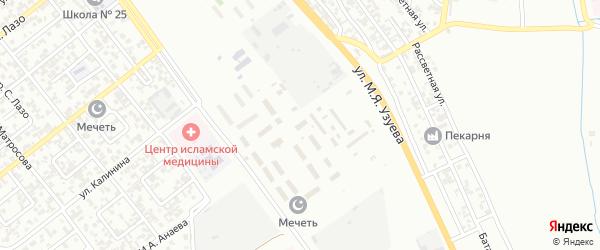 Городок Орджоникидзе на карте Грозного с номерами домов