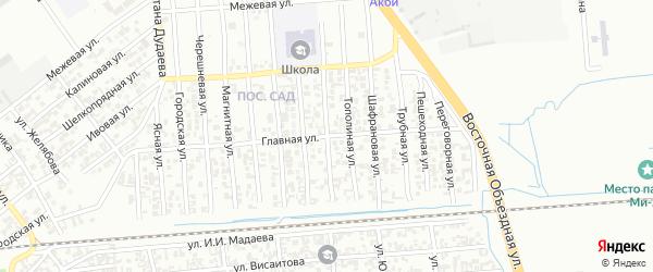 Учительская улица на карте Грозного с номерами домов