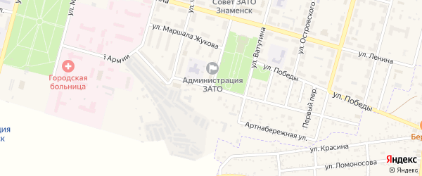 Улица Советской Армии на карте Знаменска с номерами домов