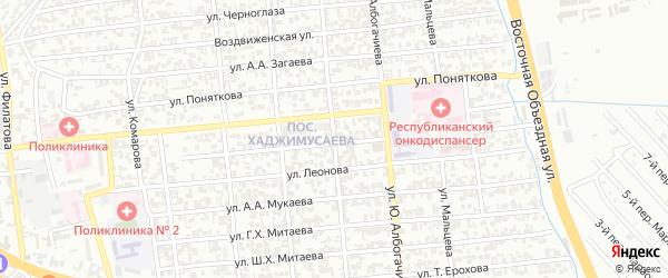 Улица им Кундухова на карте Грозного с номерами домов