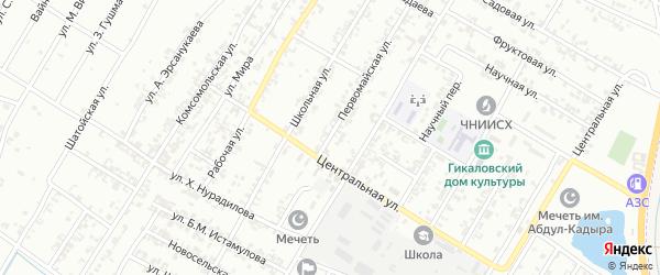 Трудовая улица на карте поселка Гикало с номерами домов