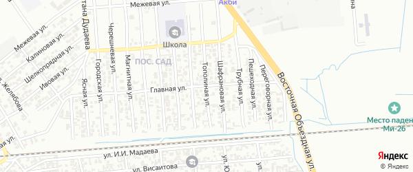 Тополиная улица на карте Грозного с номерами домов