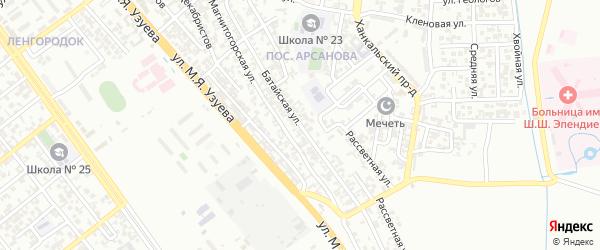 Батайская улица на карте Грозного с номерами домов