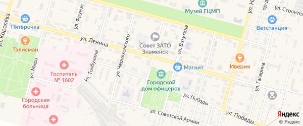 Улица Вознюка на карте Знаменска с номерами домов