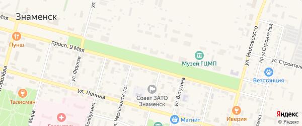 Аллея Космонавтов на карте Знаменска с номерами домов