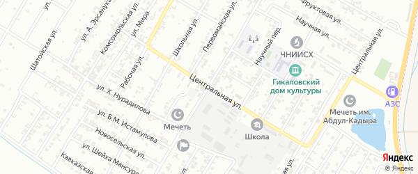 Центральная улица на карте Грозного с номерами домов