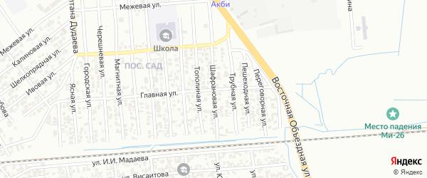 Шафрановая улица на карте Грозного с номерами домов