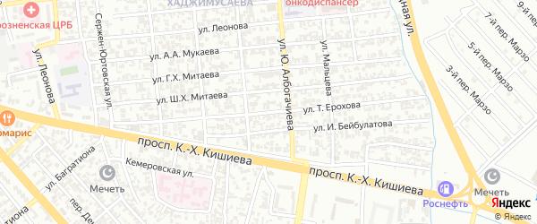 Улица им Тимофея Ерохова на карте Грозного с номерами домов