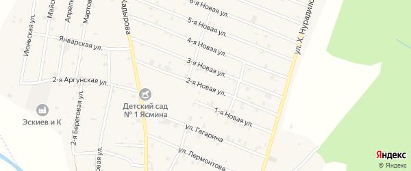 2-я Новая улица на карте села Дуба-Юрт с номерами домов