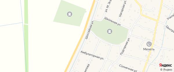 Шоссейная улица на карте села Старые-Атаги с номерами домов