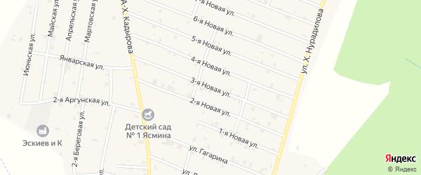 3-я Новая улица на карте села Дуба-Юрт с номерами домов