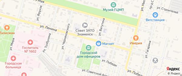 Площадь Ленина на карте Знаменска с номерами домов