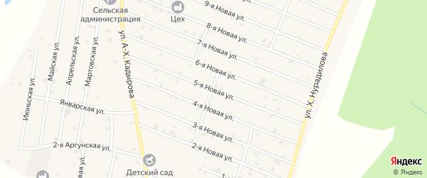 5-я Новая улица на карте села Дуба-Юрт с номерами домов