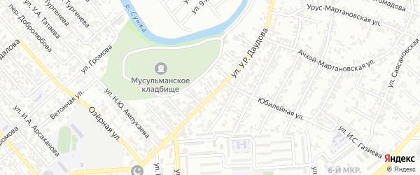 Речная улица на карте Грозного с номерами домов