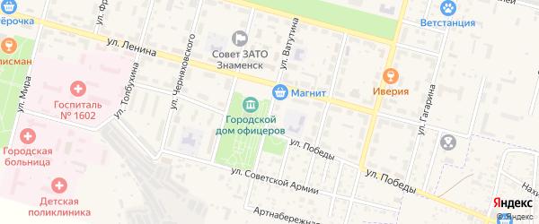 Улица Ватутина на карте Знаменска с номерами домов