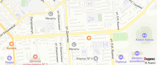 Улица им Умара А Садаева на карте Грозного с номерами домов
