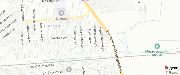 Трубная улица на карте Грозного с номерами домов
