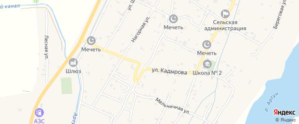 Подгорная улица на карте села Старые-Атаги с номерами домов