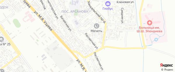 Рассветная улица на карте Грозного с номерами домов