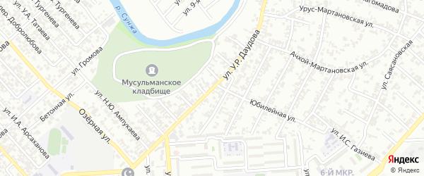Автобусная улица на карте Грозного с номерами домов