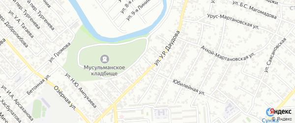Мостовая улица на карте Грозного с номерами домов