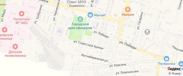 Новый переулок на карте Знаменска с номерами домов