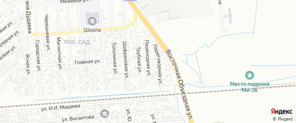 Пешеходная улица на карте Грозного с номерами домов
