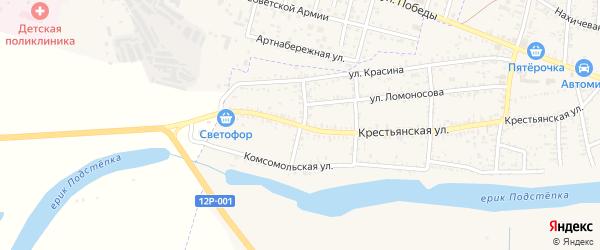 Улица Энгельса на карте села Капустина Яра с номерами домов