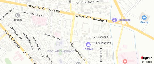 Лазурная улица на карте Грозного с номерами домов