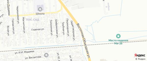 Переговорная улица на карте Грозного с номерами домов