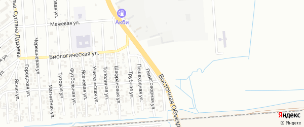 Улица Иоанисиани на карте Грозного с номерами домов